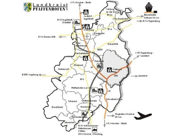 Landkreis Augsburg Karte.Zentrale Lage Markt Wolnzach