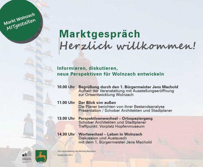 Grossansicht in neuem Fenster: ISEK - Wolnzacher Marktgespräch am 30.09.2017 - Flyer Seite 1