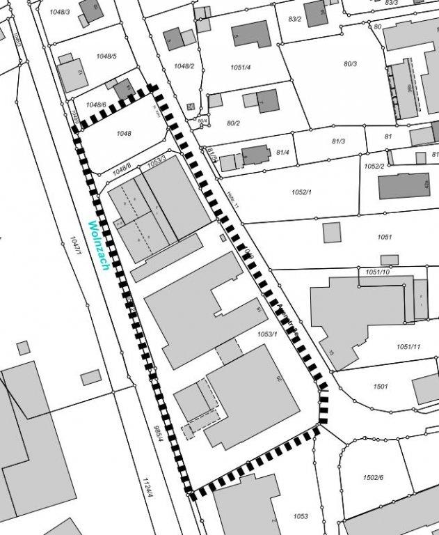 Geltungsbereich BBPL Nr. 22 - An der Auenstraße, 1. Änderung