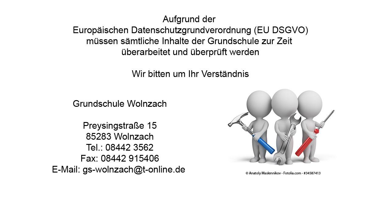 Bausttellenbild Grundschule Wolnzach