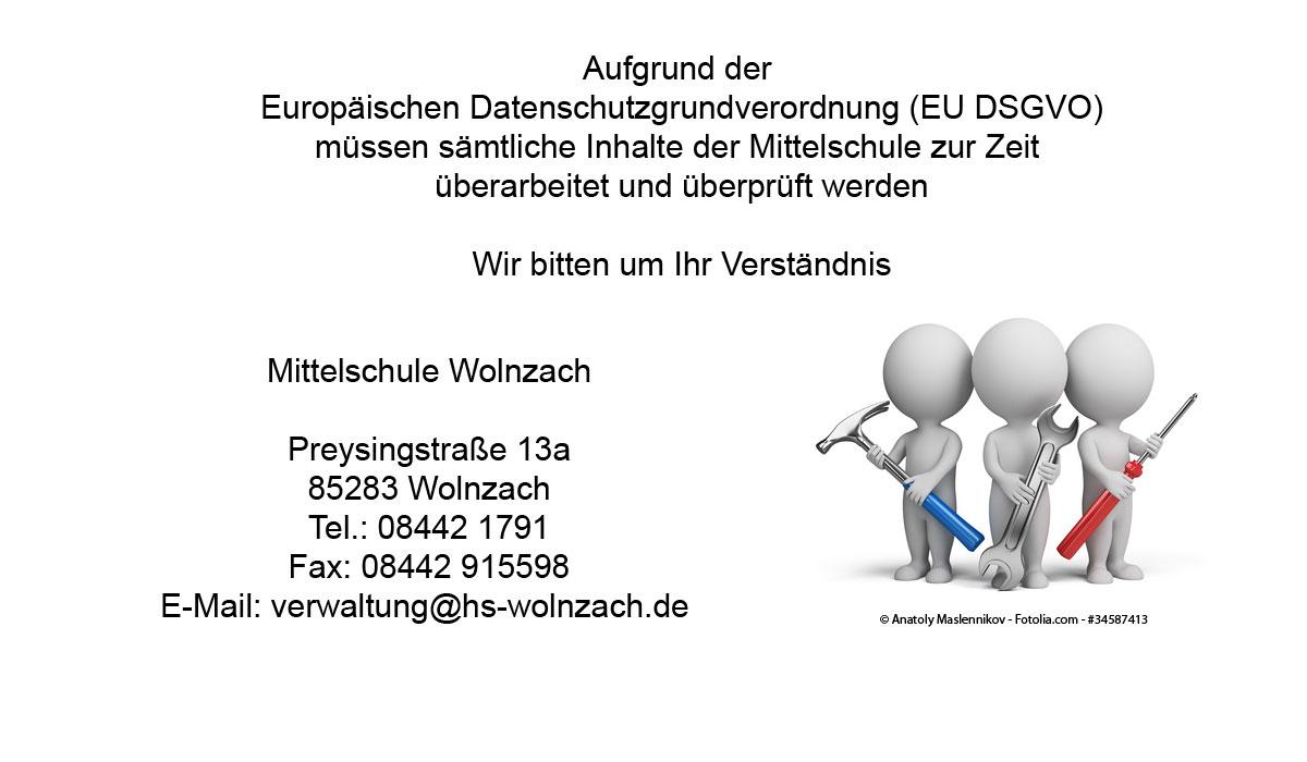 Bausttellenbild Mittelschule Wolnzach