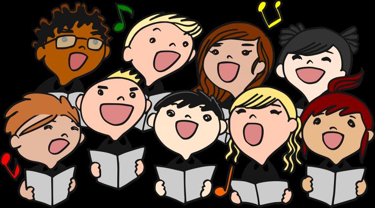 Grossansicht in neuem Fenster: Gemeinsames Singen mit Klavierbegleitung