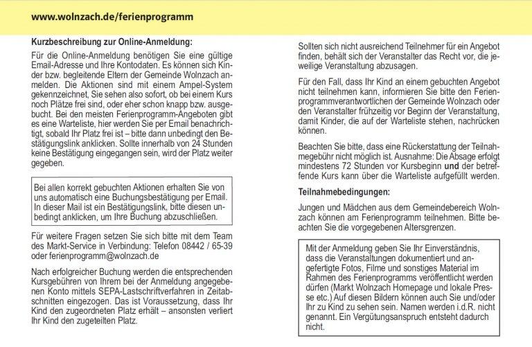 Grossansicht in neuem Fenster: Online-Anmeldung - Erklärung Seite 1