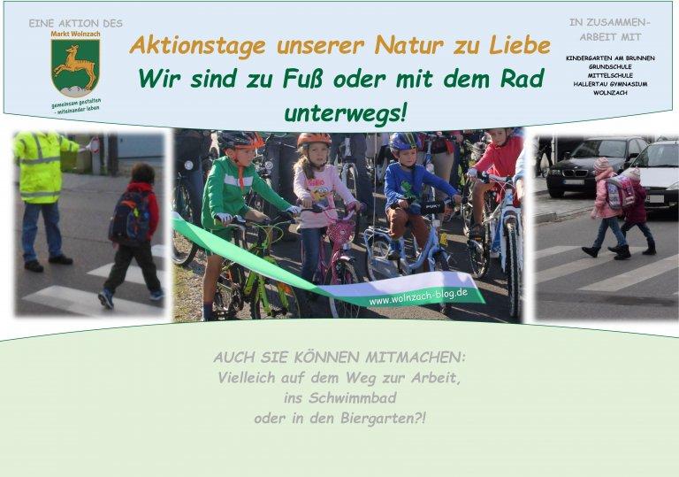 Grossansicht in neuem Fenster: Plakat  zur Aktion Zu Fuss zur Schule