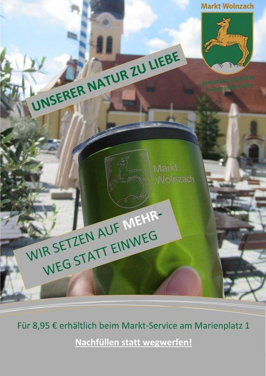 Grossansicht in neuem Fenster: Plakat  zur Aktion Mehrweg für uns - Kaffeebecher