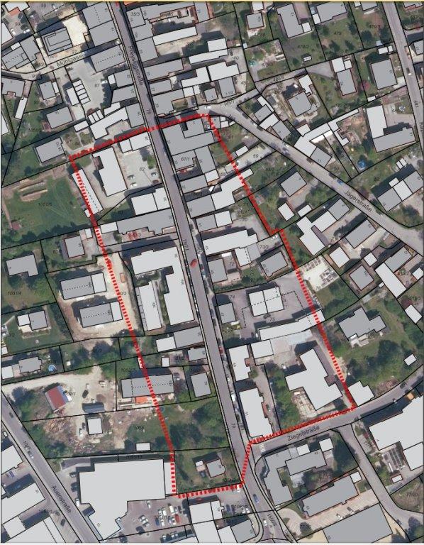 Umgriff Veränderungssperre Bebauungsplan Nr. 153 Preysingstraße-Süd
