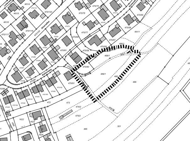 Umgriff Bebauungsplan Nr. 144 für das Gebiet Am Kiefernweg