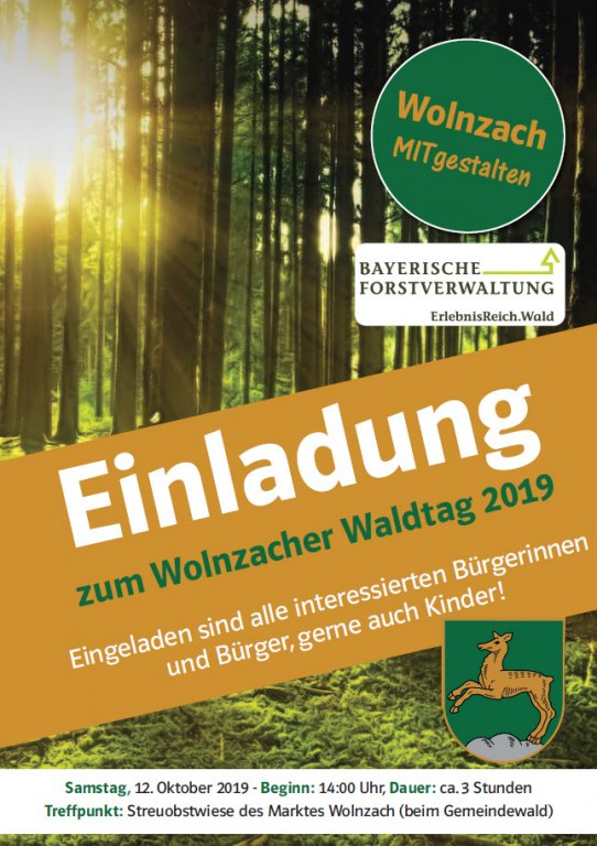 Plakat Waldtag 2019