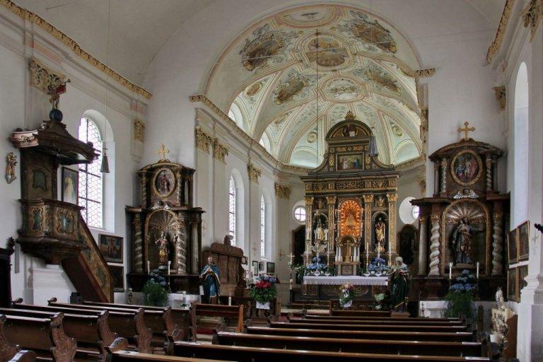 Grossansicht in neuem Fenster: Wallfahrtskirche Lohwinden von innen