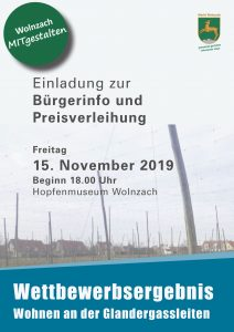 Wettbewerbsergebnis – Wohnen an der Glandergassleiten - Plakat Seite 1