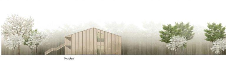 Grossansicht in neuem Fenster: 1. Preis Kindergarten Wiesensteig 1010_Ansicht Nord