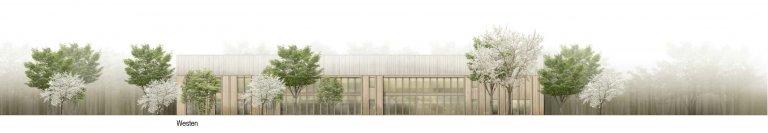 Grossansicht in neuem Fenster: 1. Preis Kindergarten Wiesensteig 1010_Ansicht West