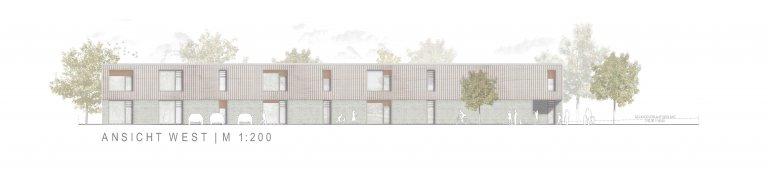 Grossansicht in neuem Fenster: 3. Preis Kindergarten Wiesensteig 1005_Ansicht West