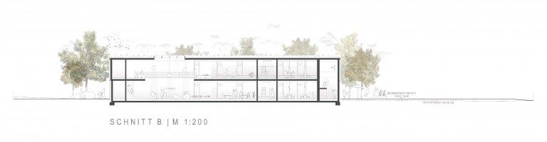 Grossansicht in neuem Fenster: 3. Preis Kindergarten Wiesensteig 1005_Schnitt