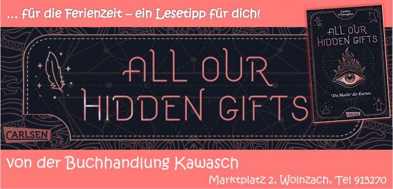 Grossansicht in neuem Fenster: Buchtipp Kawasch All our hidden gifts